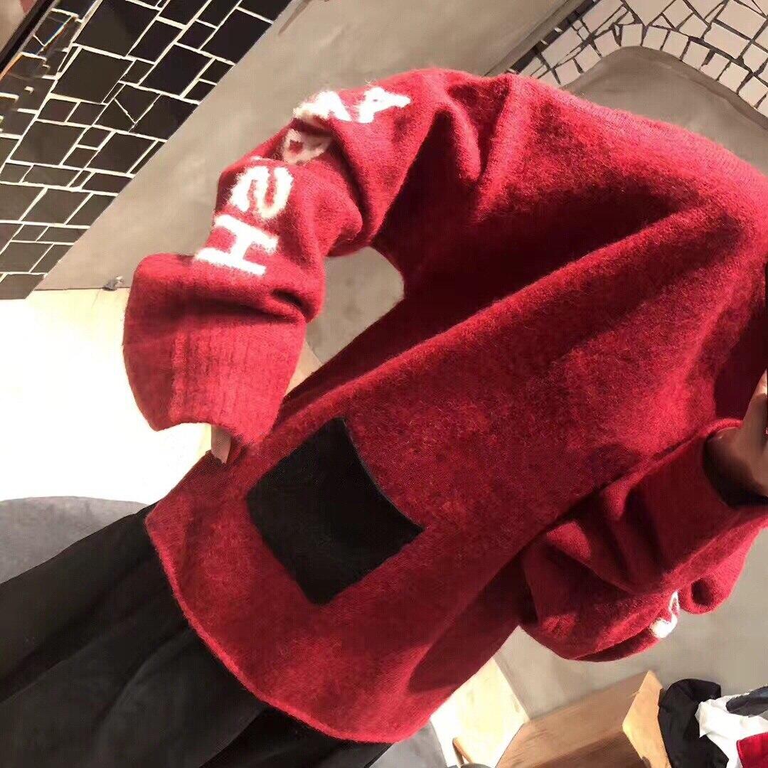 red Couleurs Et De Nouveau Chandail 2019 Vêtements 2 3 Tailles Black Femmes Laine D'hiver CwYOwXq