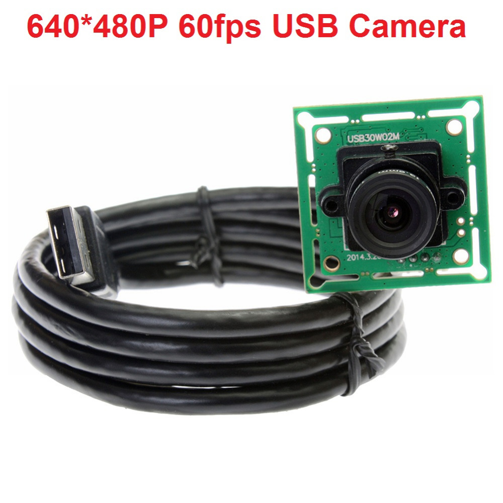 ELP 12mm Lens 480P Cmos OV 7725 MJPEG 60fps VGA OEM CCTV USB Camera module with UVC for Linux, Windows XP, WIN CE, MAC, SP2