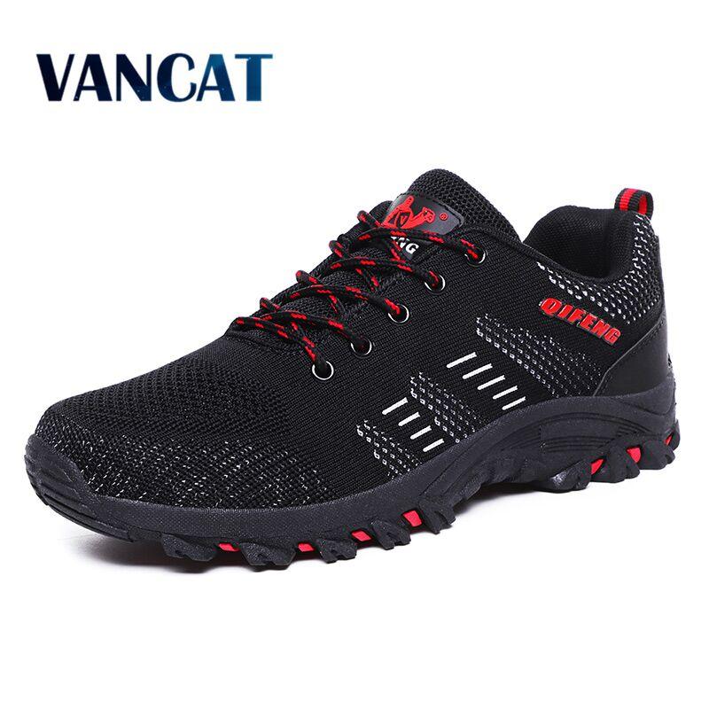 Vancat 2019 New Brand Men's Shoes Breathable Mesh Men Casual Shoes Outdoor Comfortable Sneakers Fashion Flats Plus size 39 47