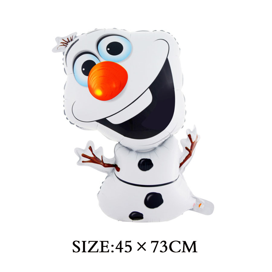 1pc 72*43cm Party Cartoon Shape Olaf Foil Helium Balloon Birthday ...