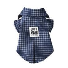 Популярная красивая футболка для щенка, летняя Клетчатая жилетка для маленьких собак, одежда для домашних животных, пальто с отворотами, одежда@ LS MY1418