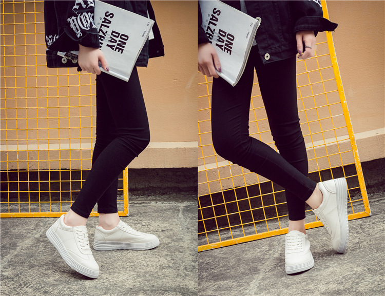 17 Women White Shoes Autumn Winter Soft Comfortable Casual Shoes Flats Platform Sneakers Real Leather Shoes Sapato Feminino 31