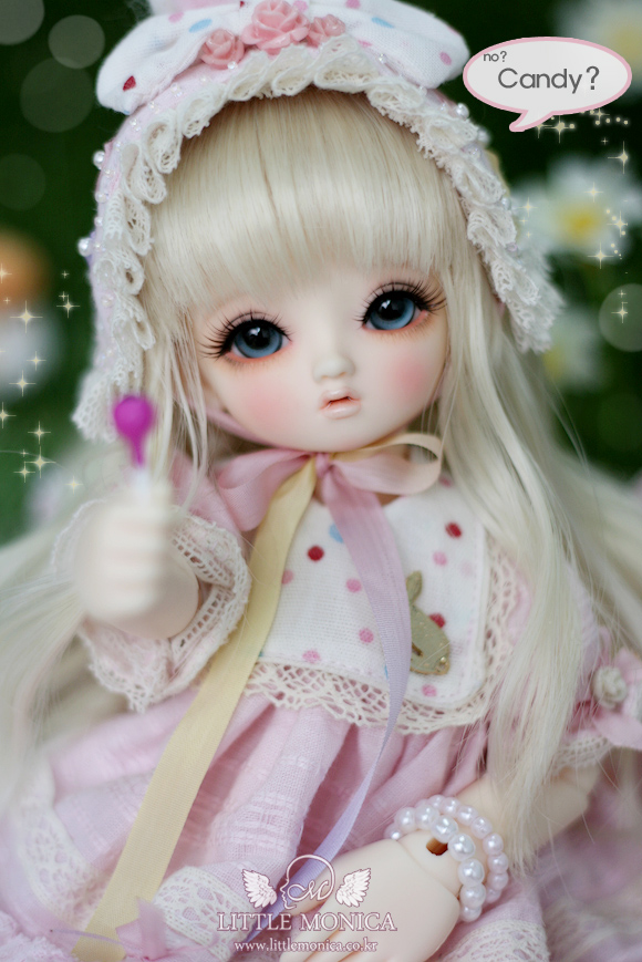 1/6 scale BJD sweet cute kid Littlemonica Blossom Lucile Resin figure doll DIY Model Toys.Not included Clothes,shoes,wig pair of elegant faux pearl rhinestone rose earrings for women