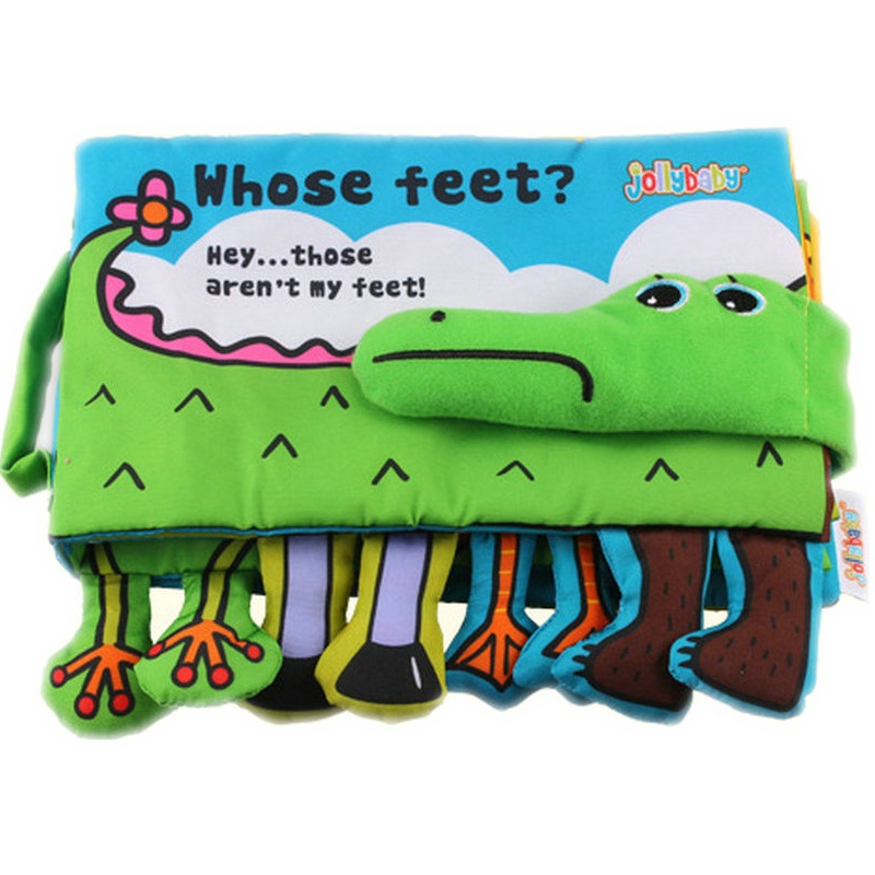 Infant Activity Book Cartoon Animal crocodile Soft Baby Educational Toy Cloth Book Plush Intelligence Developing Toy KF160 crocodile animal series many chew toy