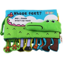 Infant Activity Book Cartoon Animal crocodile Soft Baby Educational Toy Cloth Book Plush  Intelligence Developing  Toy KF160