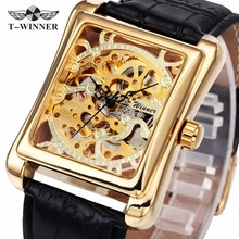 WINNER Men Luxury Mechanical Watches Leather Strap