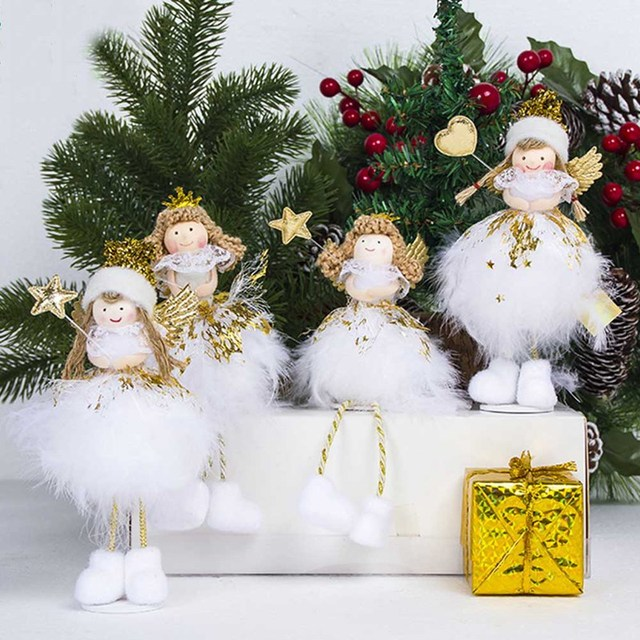 christmas angel doll toy christmas decorations for home christmas tree decorations xmas kids new year gifts