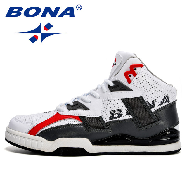 BONA New Arrival Classics Style Men Basketball Shoes Leather Lace Up Men Sport Shoes Outdoor Men jogging Shoes Free Shipping
