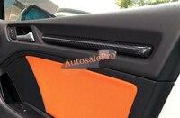 Новый Настоящее Углеродного Волокна Интерьера Внутри Внутренняя Дверь Полоса Крышка Накладка 4 шт. Для Audi A3 8 В 2012 2016