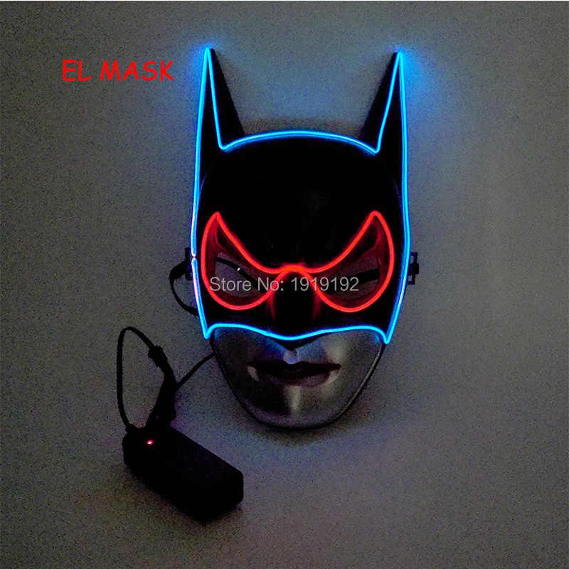 2019 Новый светодиодный ночной флуоресцентная маска DJ Бар Выпускной бутафорская маска с Driver Драйвер для карнавала маскарад Вечерние