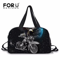 FORUDESIGNS Cool Men Travel Luggage Duffle Bags Organizer Duffel Tote Bag Personalized Trip Short Traveling Bag