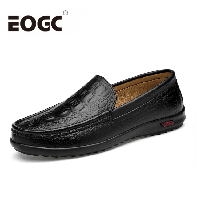 Autumn Men loafers Genuine Leather men shoes 2019 Fashion Handmade Casual Shoes Male Moccasins For Men Leather Flat Shoes 38-47