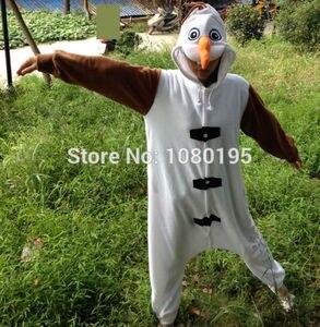 Image 3 - Anime Olaf snowman Costume Pajamas Cosplay White jumpsuit Adult Onesie Pyjamas Party Dress NL1601