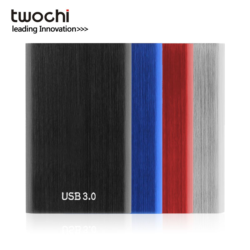TWOCHI Metal Portable HDD 2.5'' 80GB 120GB 160GB 250GB 320GB 500GB Storage External Hard Drive USB3.0 Disk for PC/Mac Xbox PS4 1 8 160gb ssd ce zif pata replace mk1634gal 160gb 1 8 ce zif hdd hard disk drive for ipod classic 7th a1238