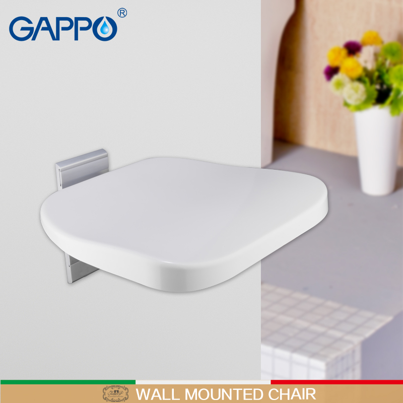 Remarkable Us 113 26 52 Off Gappo Wall Mounted Shower Seat Folding Bench For Children Toilet Folding Shower Chairs Bath Shower Stool Cadeira Bath Chair In Wall Ocoug Best Dining Table And Chair Ideas Images Ocougorg