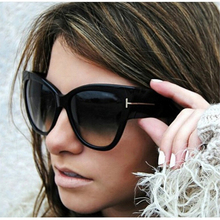 Luxury Brand Designer Women Sunglasses Oversize Acetate Cat