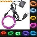 5V 1m/3m/5M USB EL wire flexible Glow EL tape tube Strip LED Lights Shoes Clothing Car waterproof led strip