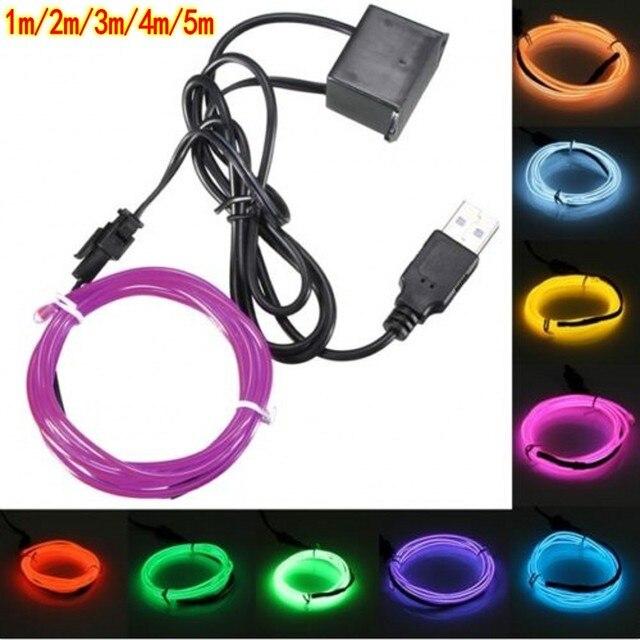 Aliexpress.com : Buy 5V 1m/3m/5M USB EL wire flexible Glow EL tape ...
