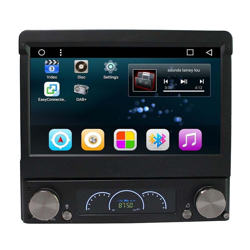 Android 7,1 7 Универсальный 1 Din автомобильный аудио dvd плеер + радио + GPS + Авторадио + стерео + Bluetooth + ПК + Automotivo + SD USB RDS Aux + камера - 2