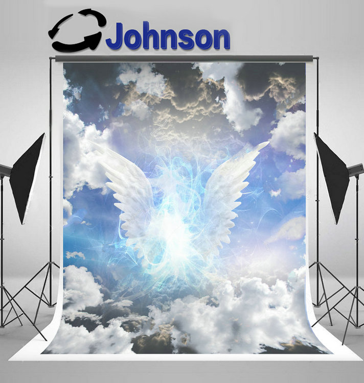 angel wings Angelic clouds photo backdrop Vinyl cloth High quality Computer print children kids photo studio background