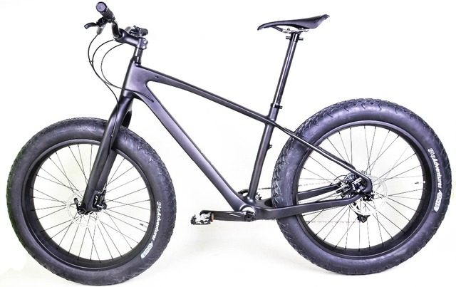 2016 newest 100% full carbon fat bikes, full fat bicycles with 80mm width wheels and all bicycle parts in UD matt finish