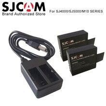 2PCS SJCAM Batteries Rechargable Battery + Dual Charger For SJ4000 SJ5000 SJ5000X Elite WIFI M10 Plus action Camera Accessories