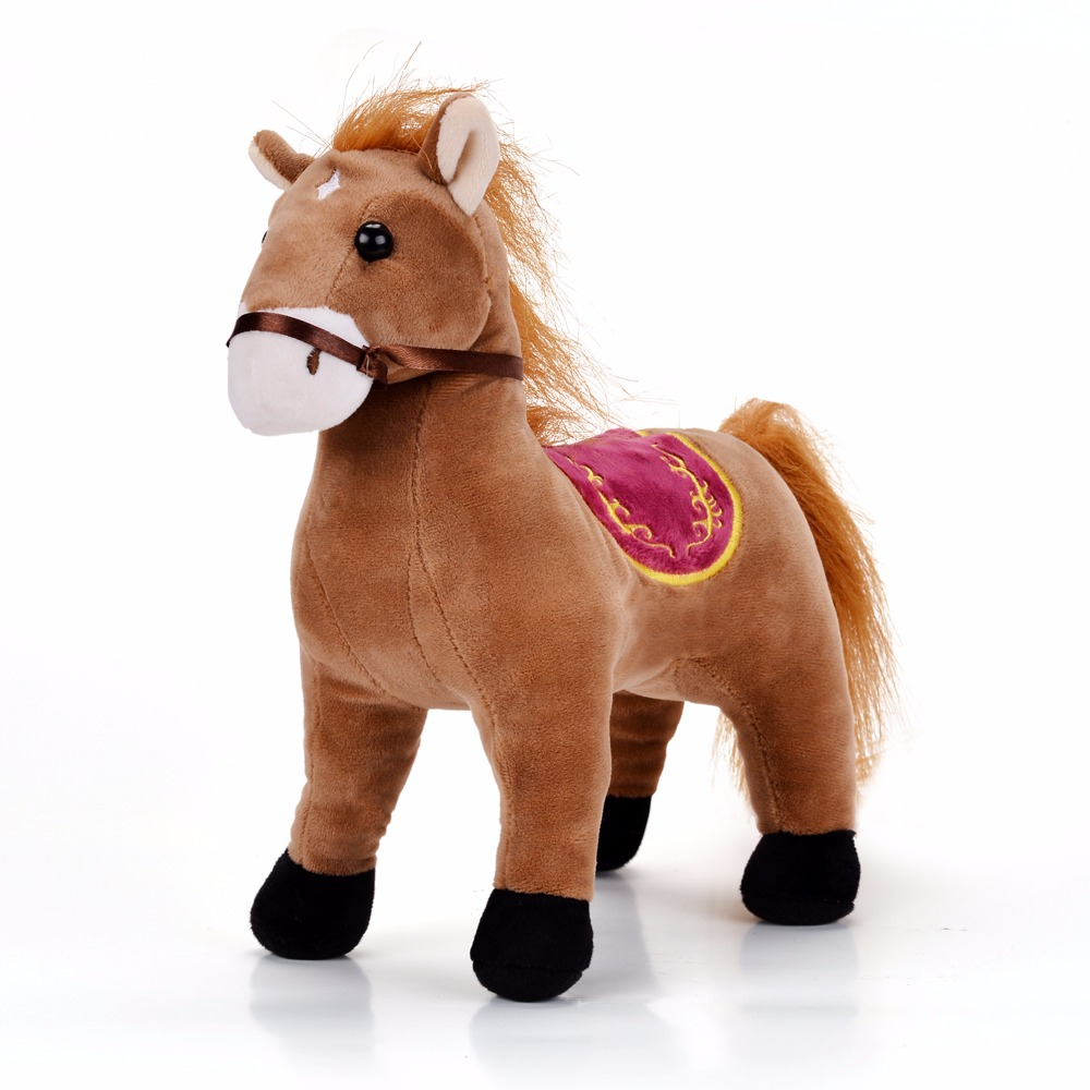Gloveleya Plush Horse Pony Toy Stuffed Animal Dolls Home Decoration For Kids Children Boys Girls Birthday Gifts 10'' бусики колечки комплект эвита тигровый глаз арт st 020 sss