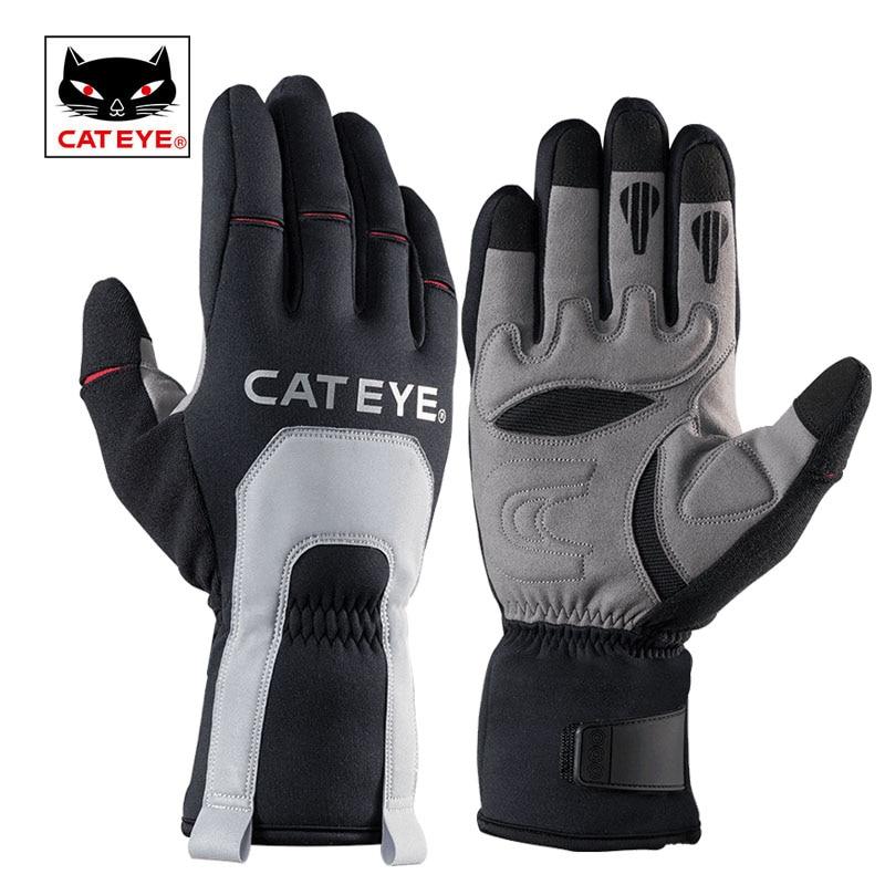 CATEYE Men's Cycling Bike Winter Thermal Gloves Full Finger Windproof Bike Bicycle Motorcycle Hiking Outdoor Sport Gloves Unisex недорого