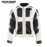2017 Rock Biker Knight Leather Cattle Leather Jacket Motorcycle Leather Racing Racing Clothing Riding Clothing white