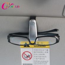 1 Piece Black Car Sunglasses Holder Case Ticket Holder for Mitsubishi Grandis Outlander ASX RVR Pajero Lancer EX EVO Accessories