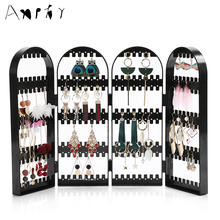 New Arrival Plastics Earrings Holder Jewelry Storage Rack  Frame Rotatable Earrings Rack Necklace Display Shelf Organizer A233