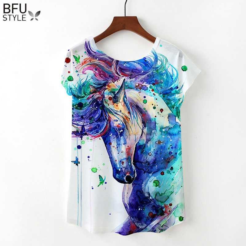 b6384a940b97 2019 Unicorn T-shirts Women Summer Clothing Loose Short Sleeve Top Harajuku  Flamingo T Shirts