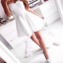 Акция принцесса Mair of honor robe demoiselle d'honneur vestido кружевные сзади белые платья для подружек невесты короткие для женщин