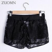 Thời Trang mùa hè Womens Shorts Ngọt Ngào Ren Crochet Eo Đàn Hồi Mỏng Quần ngắn Woman Hot Shorts Trẻ Cô Gái Sexy Ngắn Pant Y114