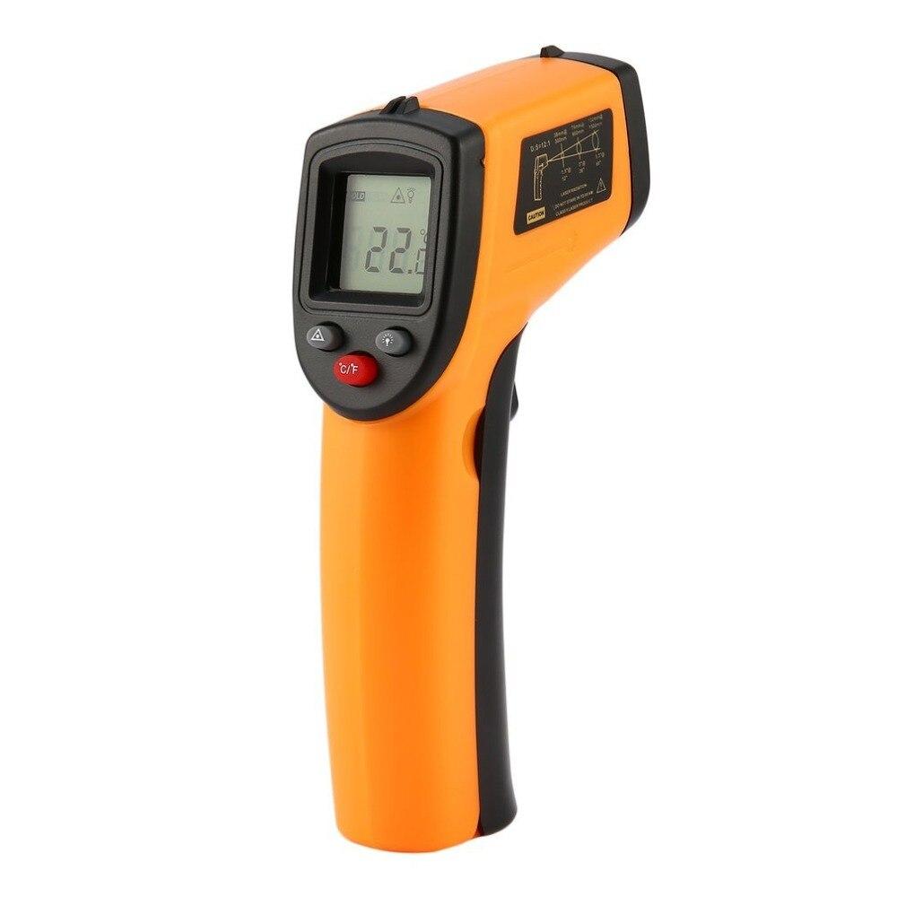 GM320 Laser A CRISTALLI LIQUIDI Digital di IR Termometro A Infrarossi Misuratore di Temperatura Pistola del Punto-50 ~ 380 Gradi Senza Contatto Termometro t20