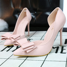 Korea Mode Elegant Süß Pumpen Spitz Frauen Schuhe Bowtie High Heel Pumps Thin Casual Party Schuhe