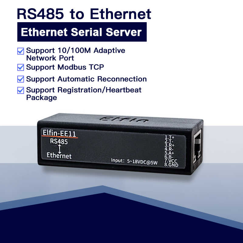 EE11 последовательный порт RS485 к Ethernet TCP/IP RJ45 конвертер со встроенной веб-сервер modbustcp/HTTP смарт-чип