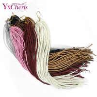 Dreadlocks synthétique tressage Extensions de cheveux Crochet tresses extrémités simples pour les femmes noires rose la redoute cheveux YxCheris