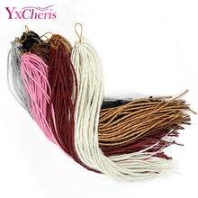 Extensão de cabelo sintético trança crochê, extensão de cabelo sintético tranças única para mulheres negras rosa yxcheris