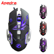 Professional Wired Gaming Mouse Gamer 3200DPI Mechanical Design USB LED Optical Computer Mouse Game Mice for PC Laptop A8