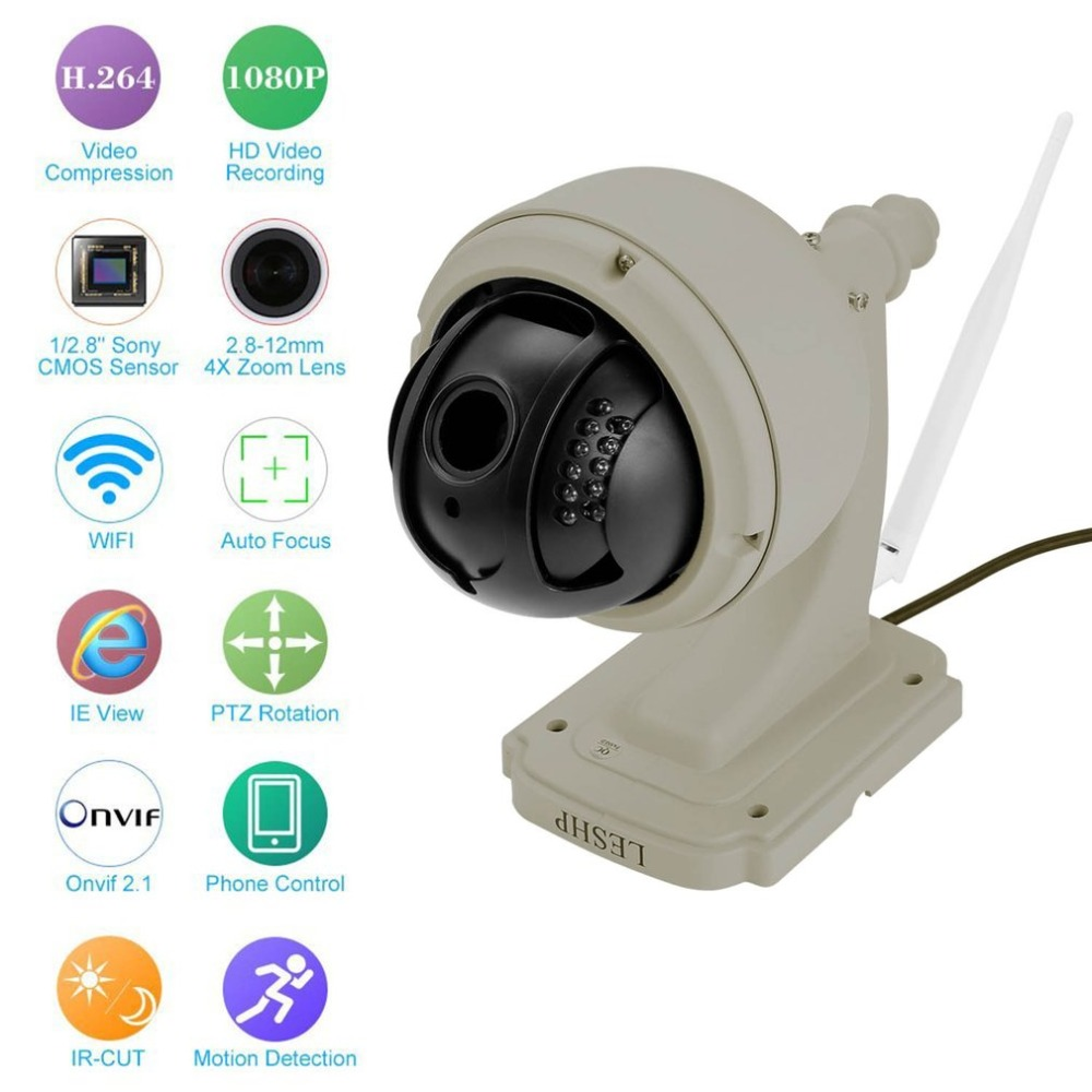 1.3MP IP Zoom PTZ CCTV Camera Auto-focus Wireless WiFi Mini Speed Dome Night Vision Outdoor Waterproof Security Camera1.3MP IP Zoom PTZ CCTV Camera Auto-focus Wireless WiFi Mini Speed Dome Night Vision Outdoor Waterproof Security Camera