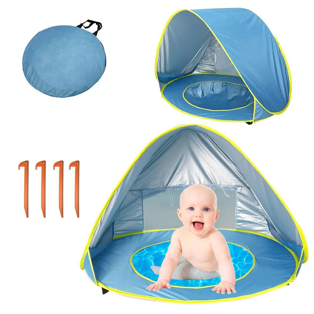 Bébé plage piscine tente complètement automatique Portable Pop Up vacances tente pour enfants en plein air uv-protetion Camping Sunshad tente avec piscine