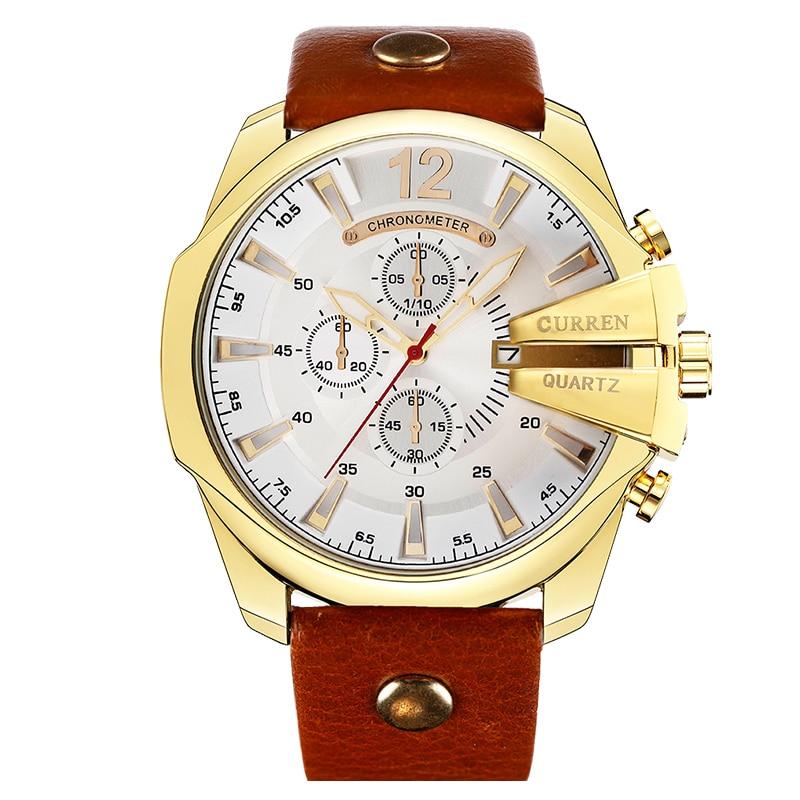 2019 estilo moda relógios super homem marca de luxo curren relógios masculino relógio retro quartzo relogio masculino para presente