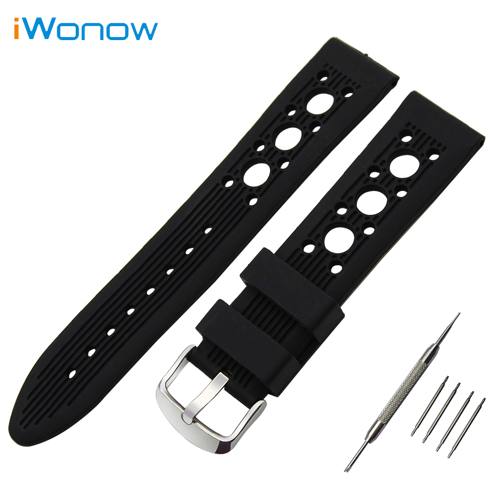 Silicone Rubber Watch Band 24mm for Suunto TRAVERSE Stainless Tang Buckle Strap Wrist Belt Bracelet + Tool + Spring Bar quality pu rubber strap watch accessories for for suunto