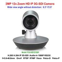 1080p60 IP 3G SDI видеоконференции POE Камера Full HD 12X Оптический зум plug & play 72.5 градусов широкий угол обзора