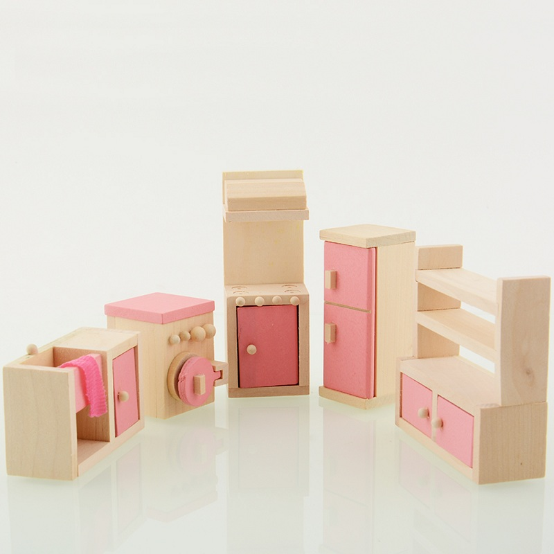 wholesale wooden doll dinning house furniture. 2017 hot sale wooden doll kitchen house furniture kids play toy design dollhouse miniature wholesale dinning o