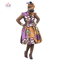 2016 Summer Private Custom African Dress Unique Plus Size Women Cloth Africa Wax Ball Gown Cute