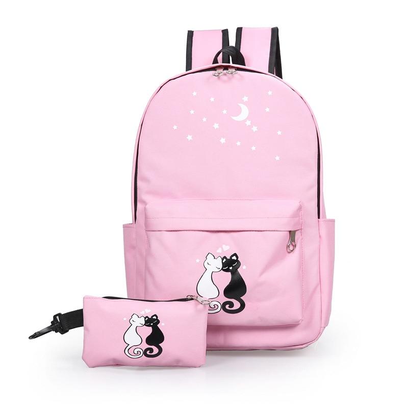 2018 Japan and South Korea fashion cartoon children school backpack High-quality canvas school bags Cute backpacks schoolbags