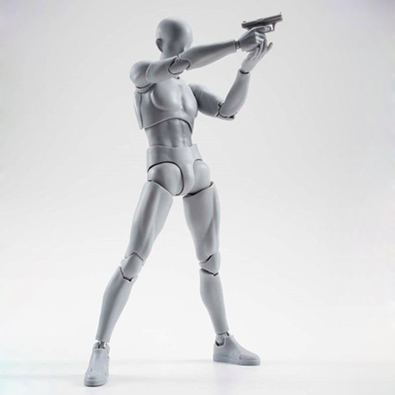 SHFiguarts Body Kun DX Set PVC Action Figure Collectible Model Toy 13cm Female Pale Gray Variable Doll Body Chan Variable Boxed 8style archetype he archetype she ferrite shfiguarts body kun body chan ver pvc action figure collectible model toy with box