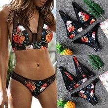 Women's Swimming Suit Sexy Bikini Swimsuit Women Print Fashion Push-Up Padded Bra Beach Bikini Set Swimsuit Swimwear